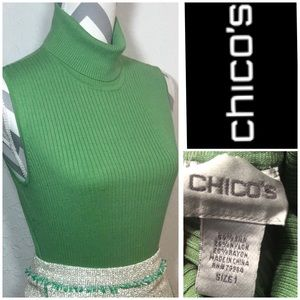 Chico's ribbed sweater turtleneck